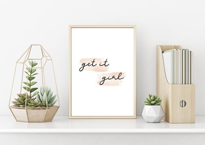 Get It Girl Motivational Wall Decor