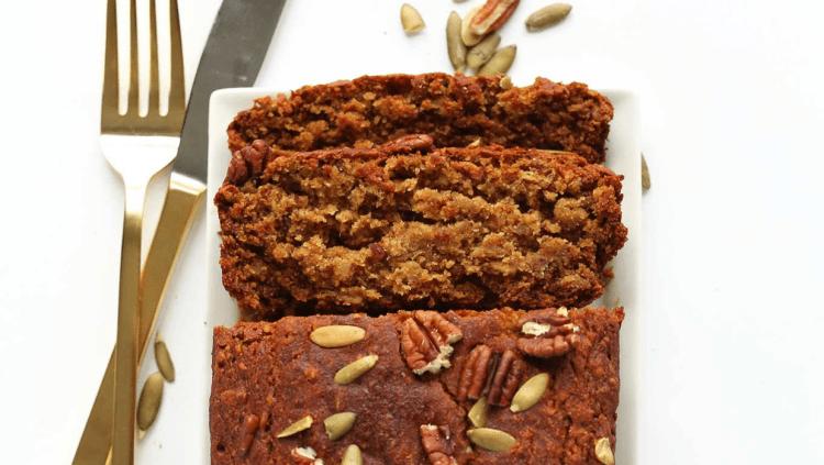 Vegan healthy pumpkin bread recipe