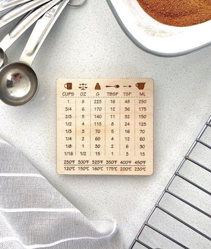 cooking conversion chart magnet