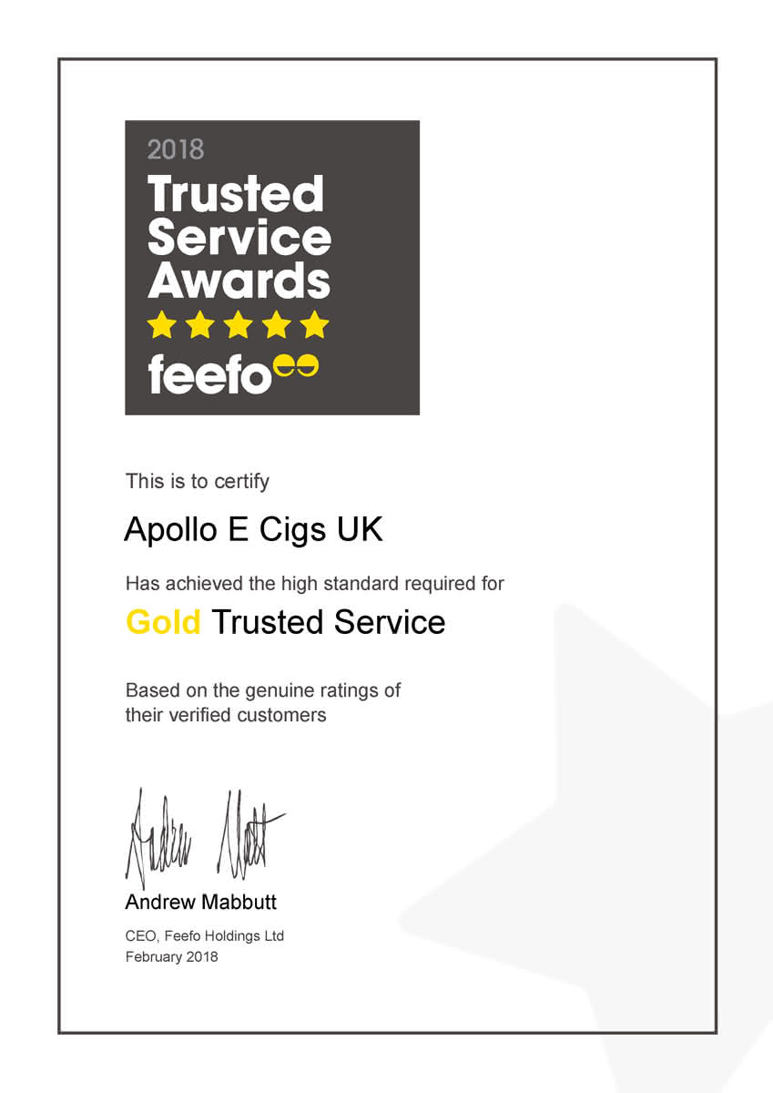 Gold trusted service reviews from Feefo