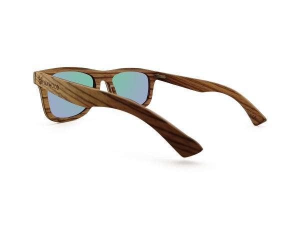 Foto van rechterachterkant van houten zonnebril Rinjani van merk foxwood