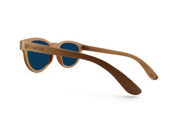 Foto van rechterachterkant van houten zonnebril Surfer van merk foxwood