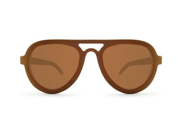 Foto van voorkant van houten zonnebril Langkawi van merk foxwood