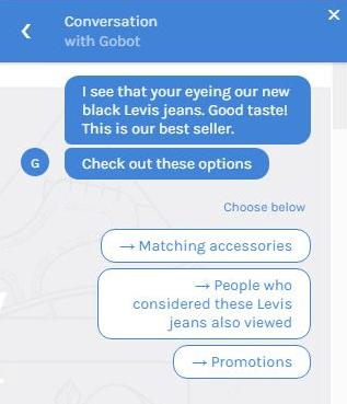 Gobot eCommerce Chatbot