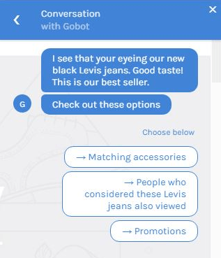 Gobot eCommerce Chatbot