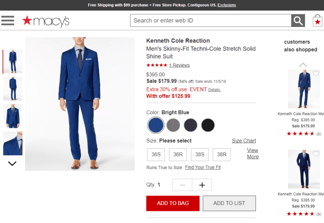 Typical eCommerce Store Example