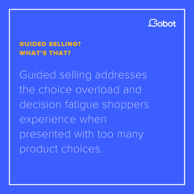 What is guided selling?