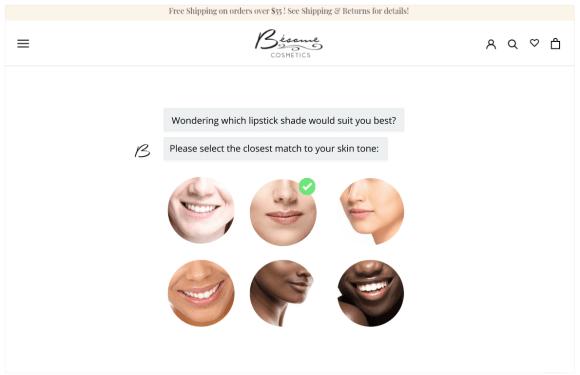 Besame Shoppable Quiz Step #1
