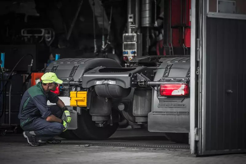 Fixing Big Truck After Accident