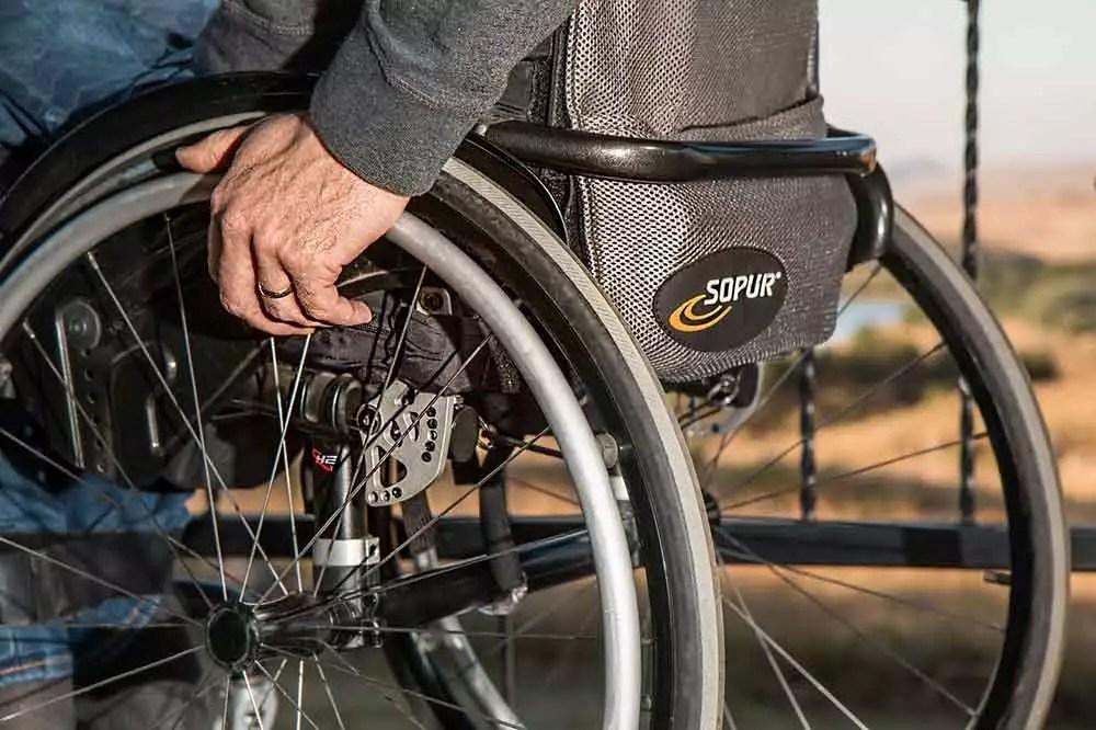 Older Women in wheelchair
