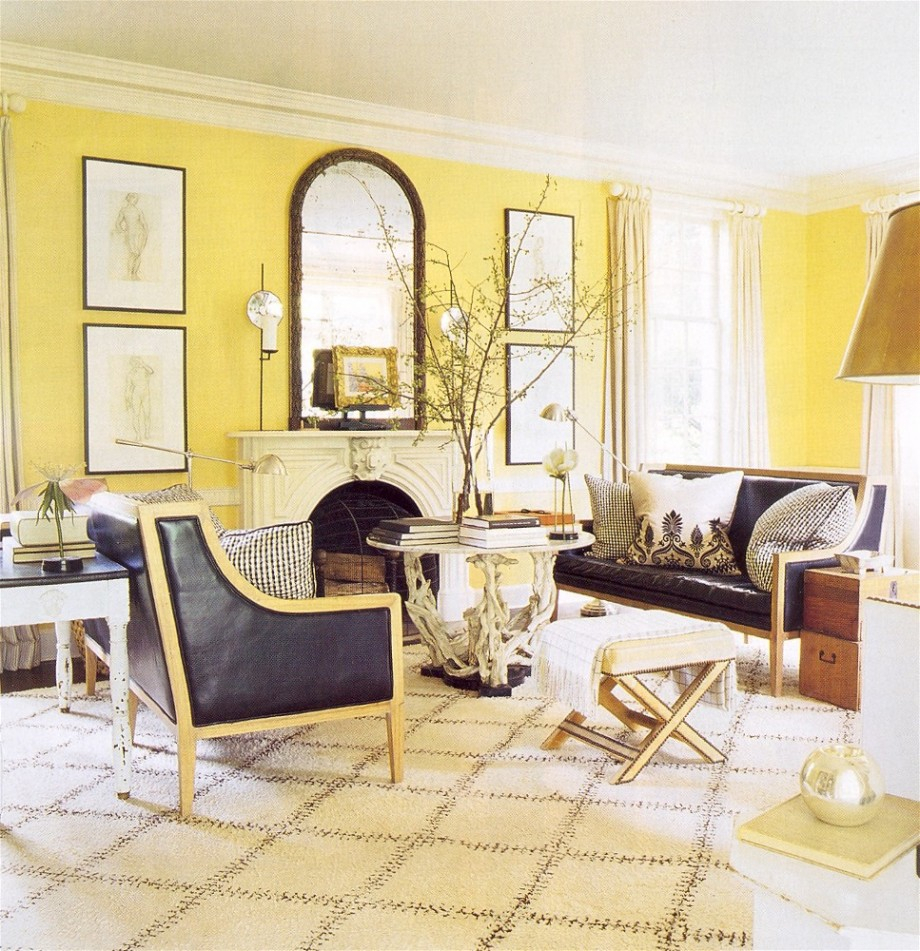 Grey Sofa Yellow Walls Cool Decorate Yellow And Gray Modern Decor Living Room With Yellow Interior Design Center Inspiration
