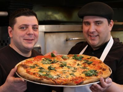 Sal Basille and Francis Garcia: Artichoke Pizza Eating Contest
