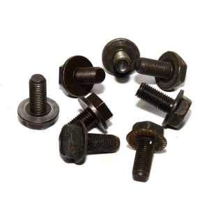 14mm HEX M8 x 1.0 Flanged Crank Bolt Black
