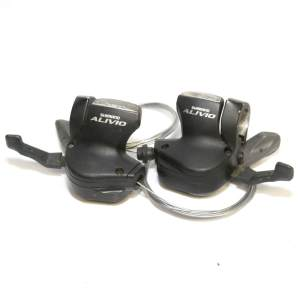 Shimano Alivio SL-M410 8 Speed Shifter Rapidfire Pods Black +2 New Cables Pair