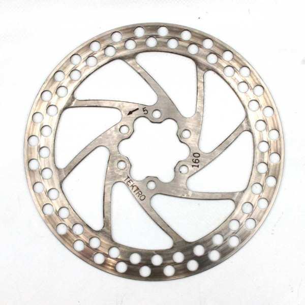 TEKTRO Round 160mm Silver Disc Rotor 6 Bolt