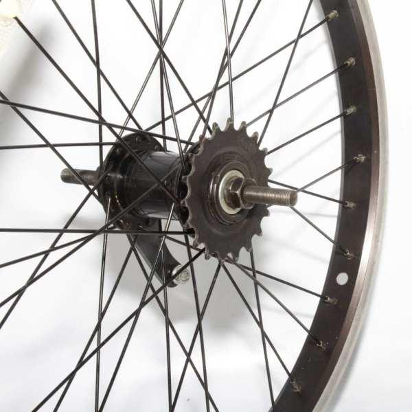 "20"" Rear Wheel Alloy Schrader Rim Silver Steel Hub 110mm 36H 19T Back-Pedal Brake"