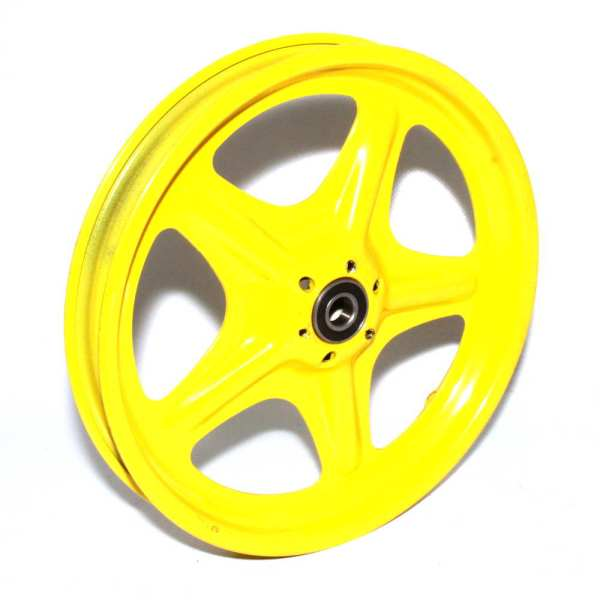 10″ Yellow Wheel Schrader Rim Steel 5 Spoke
