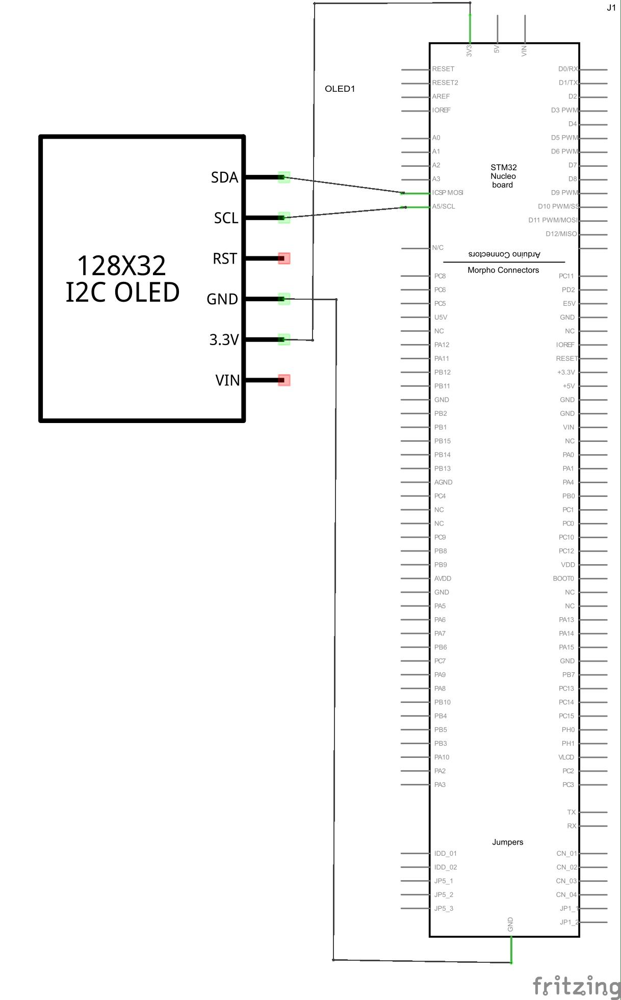 Nucleo F334 And Oled Display