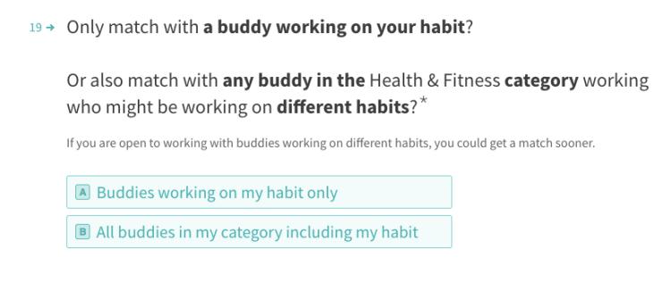habit category matching img