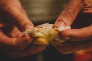 Pulling a chewy donut apart - Paul Blart