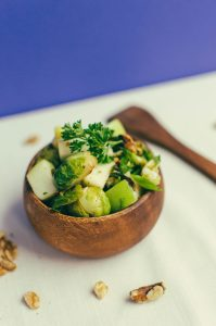 roasted Brussel sprout salad