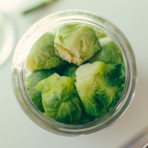 Close up on prepared Brussel sprouts - The Mummy