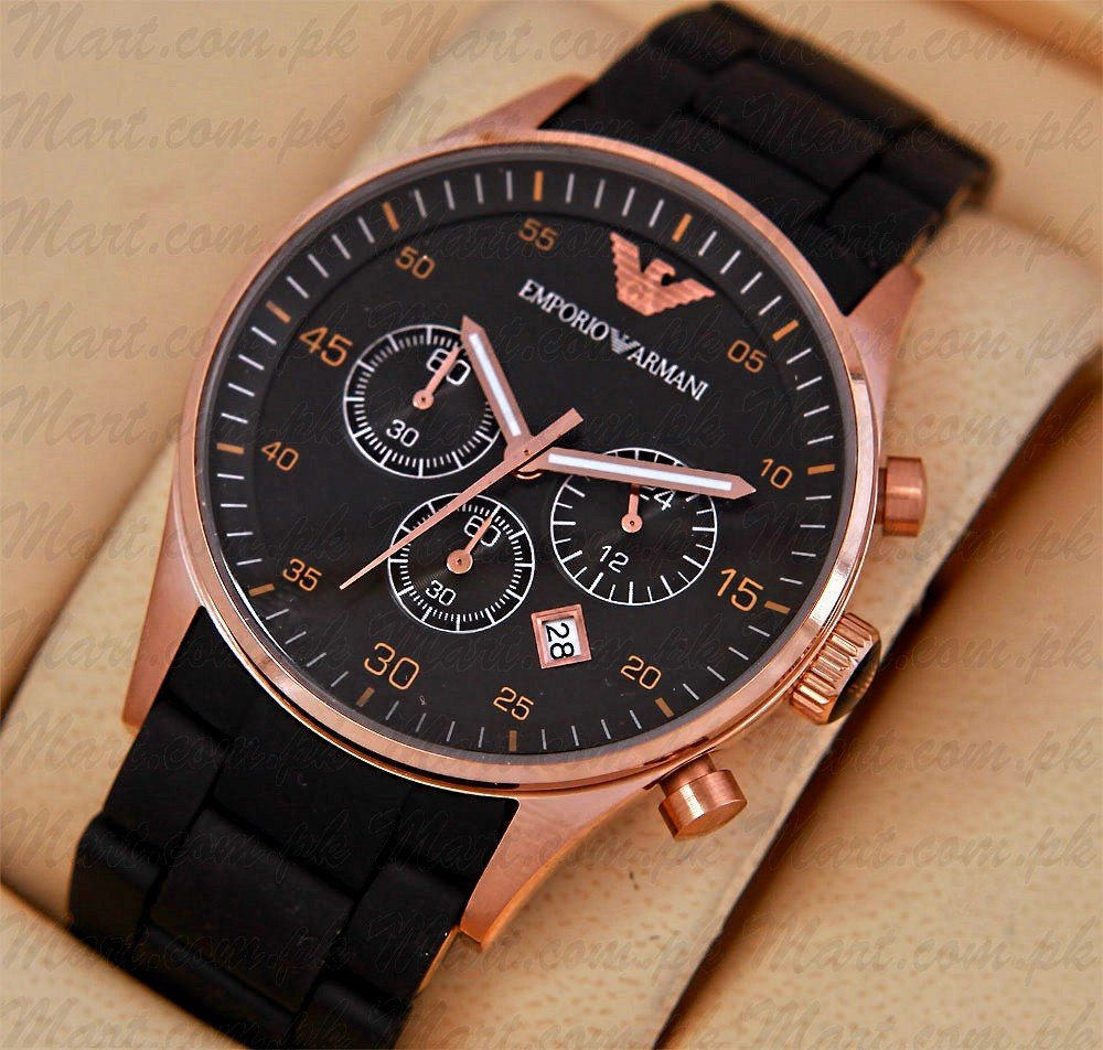 Emporio Armani Watch With Free Lava LED Watch In Pakistan