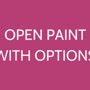 Open Paint Time
