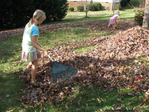involve your children in yard organizing