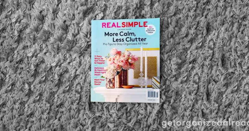 How did Get Organized Already get in REAL SIMPLE magazine this month?