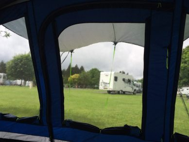 View of Blackmore from tent