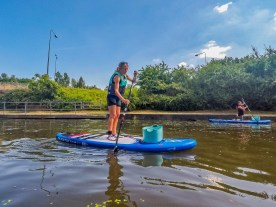 Hunting for plastic on the Stand-Up Paddleboard