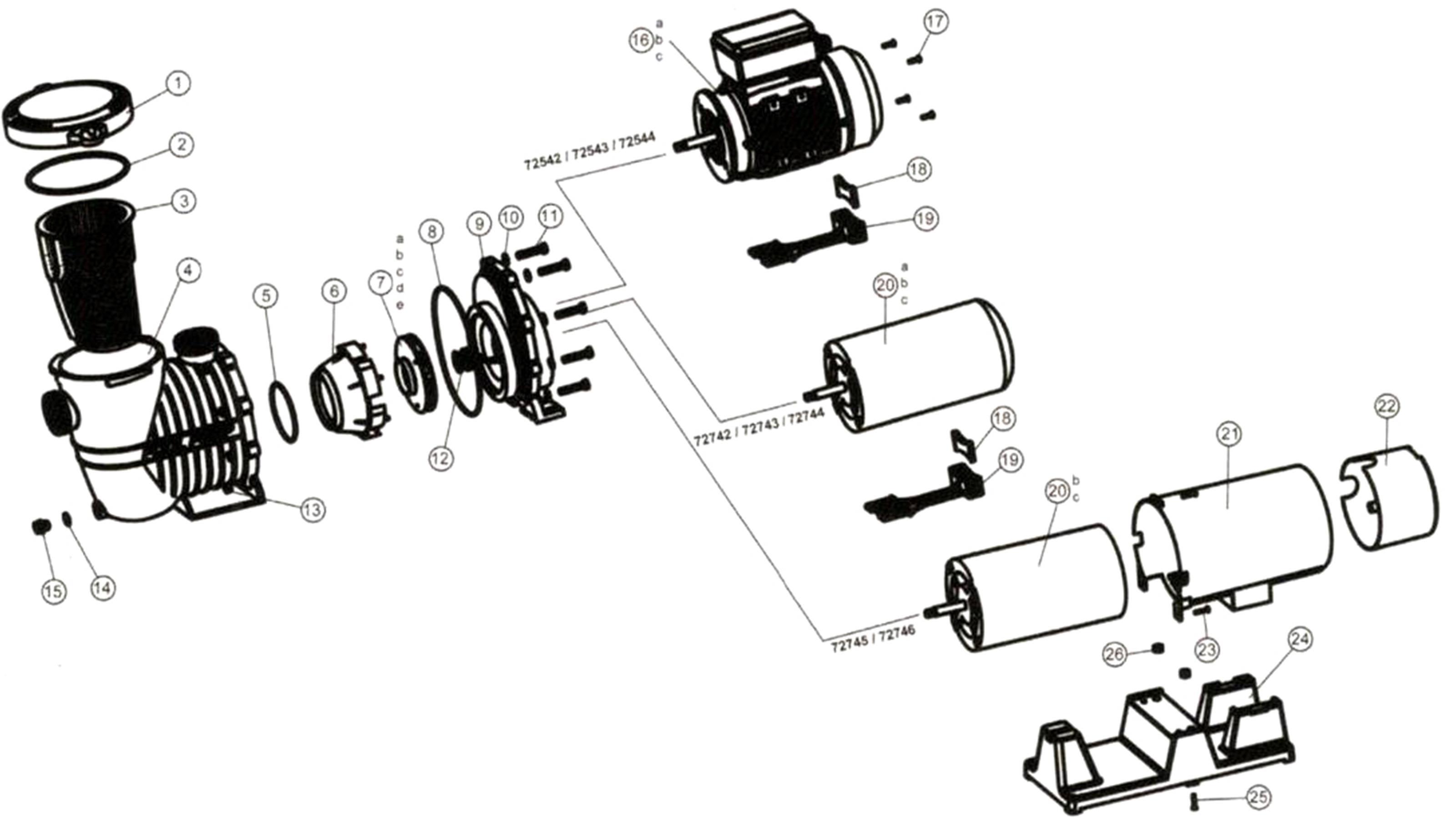Import Pool Pump Parts