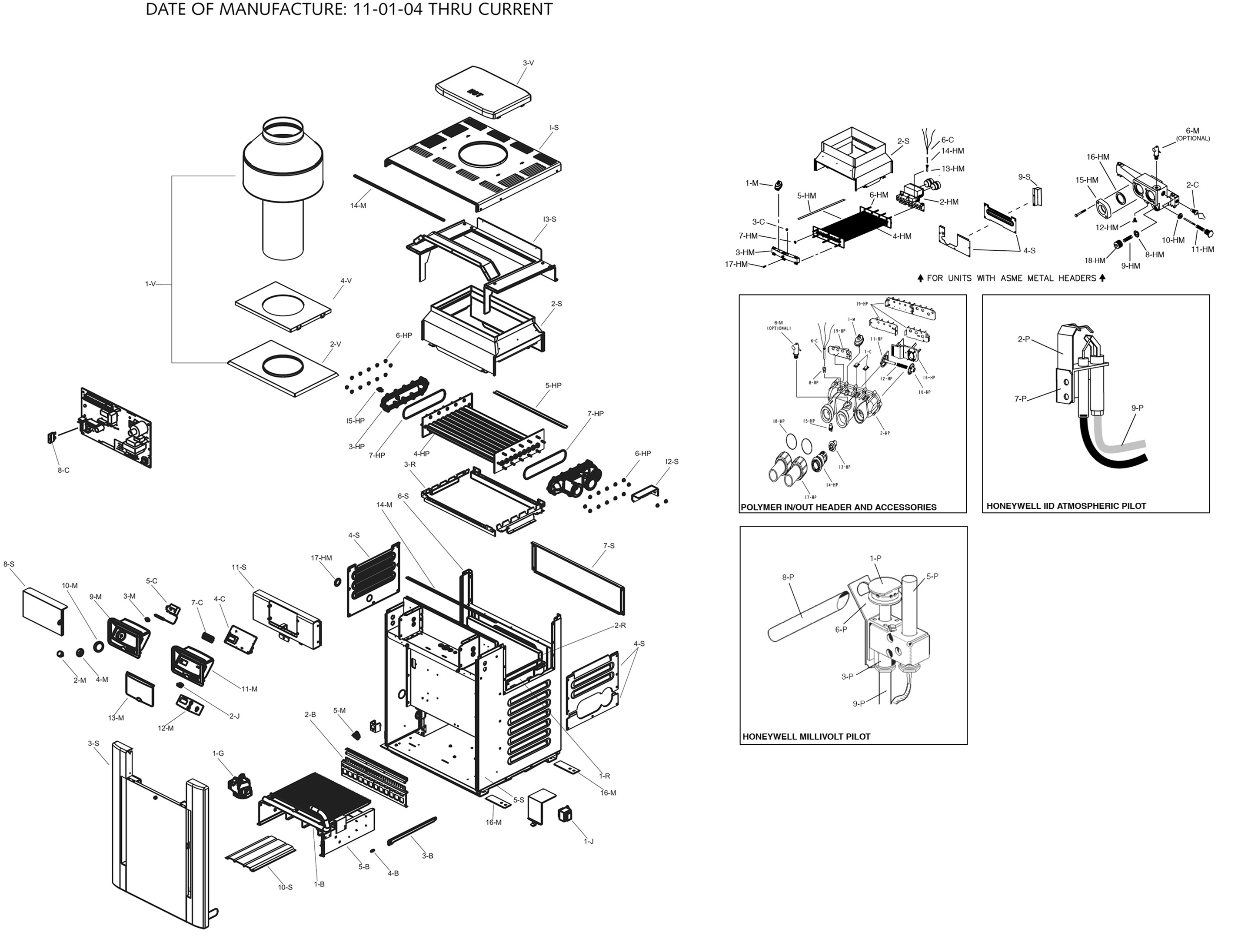 Raypak Model R406a Digital Heater Parts