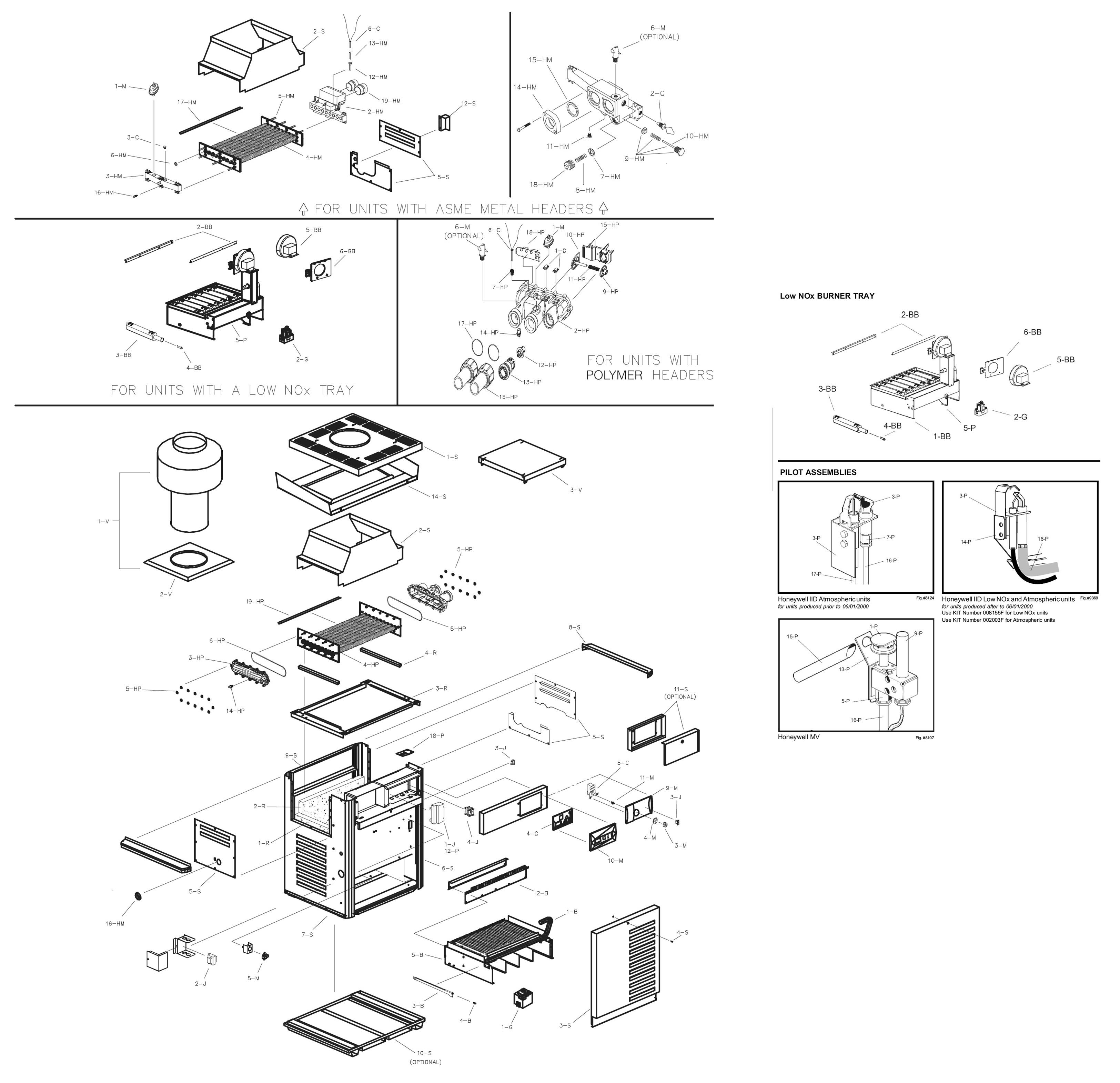 Raypak Model R335a Digital Heater Parts