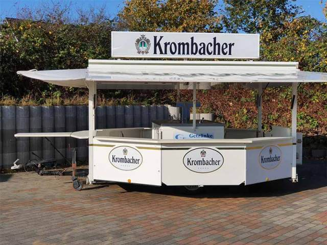 Getränkewagen Krombacher Seite