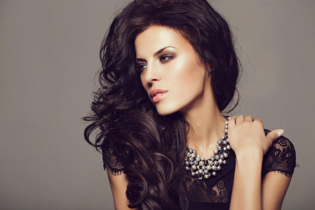 Dark Hair Model from las vegas makeup artist GetReady