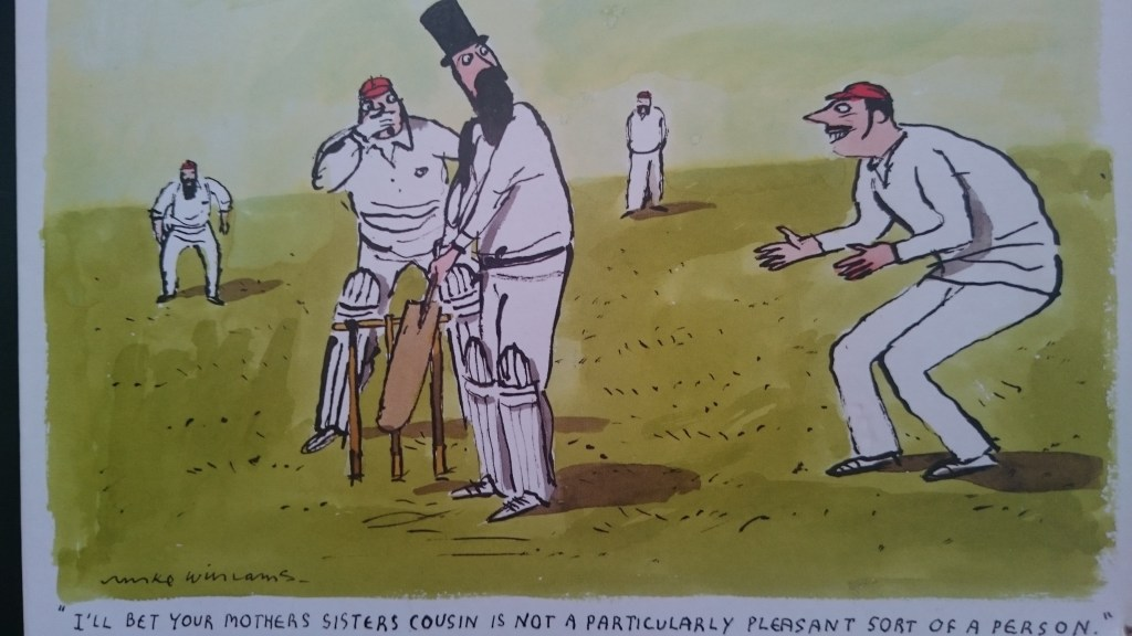 Unsporting sledging ( (C) Wildcard Company)