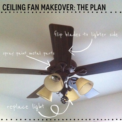 Before and after  A  6 ceiling fan makeover  Note