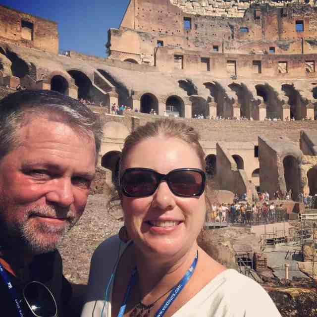 J.D. and Kim at the Colosseum