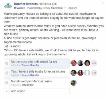 Opinions from people about working in retirement.