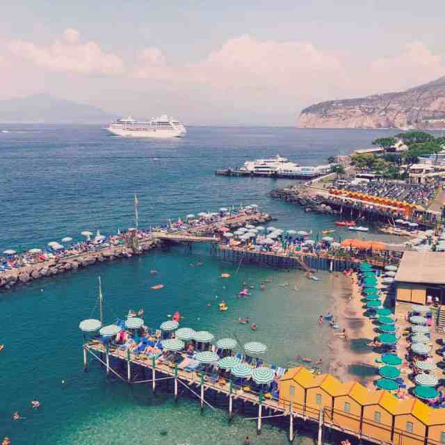 Our cruise ship in Sorrento, Italy