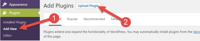 Manually install plugin : Install wordpress plugins