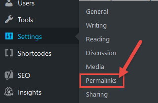 Permalinks setting in wordpress - start and Setup a blog today