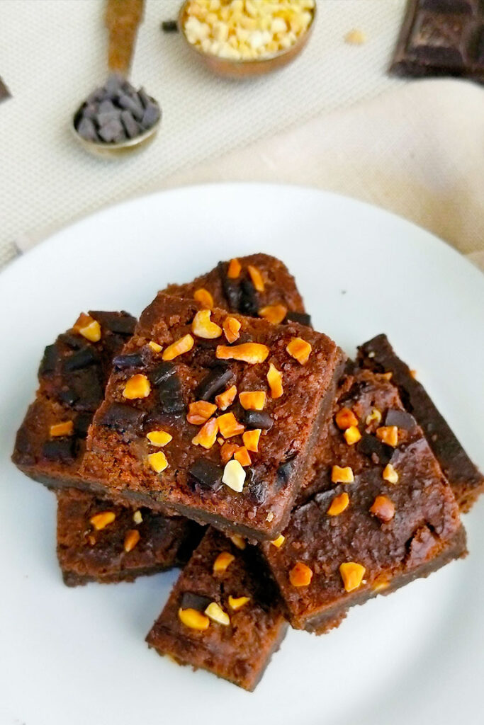 CHICKPEA BROWNIES high protein