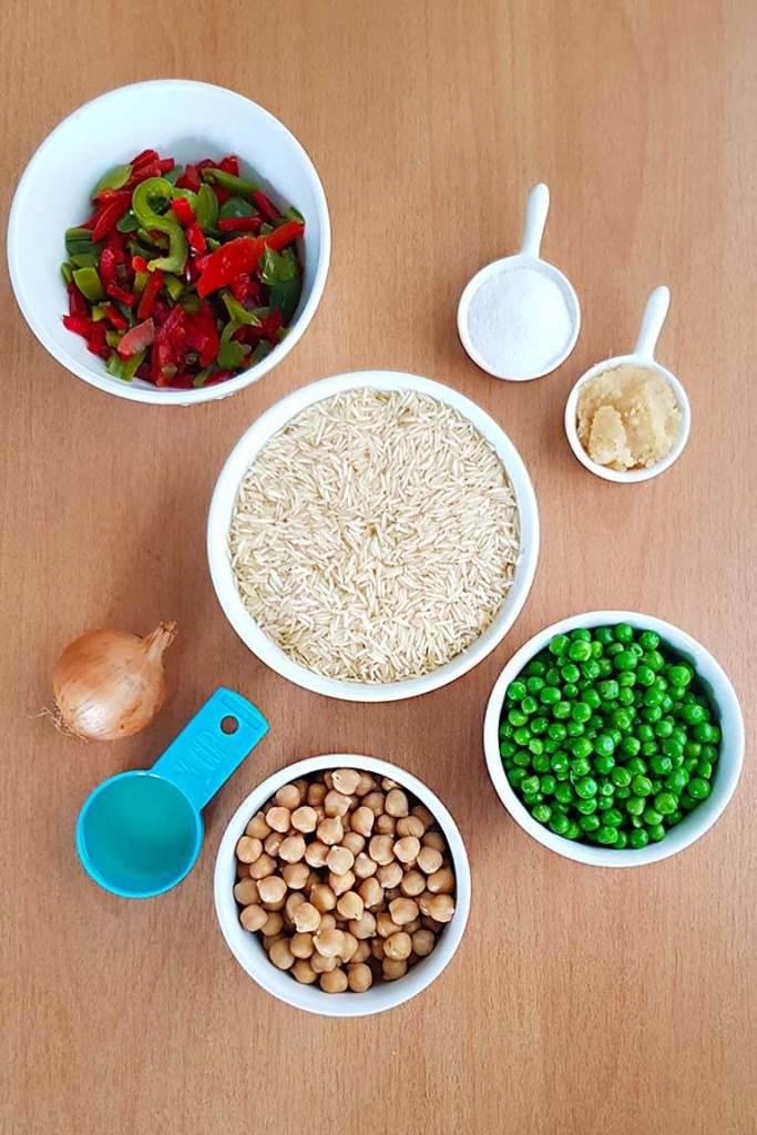 One pot Vegan Rice Ingredients