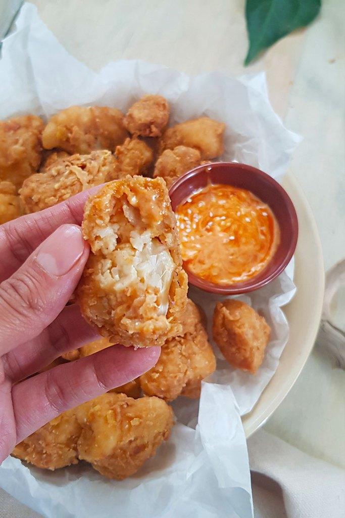 bite size fried cauliflower