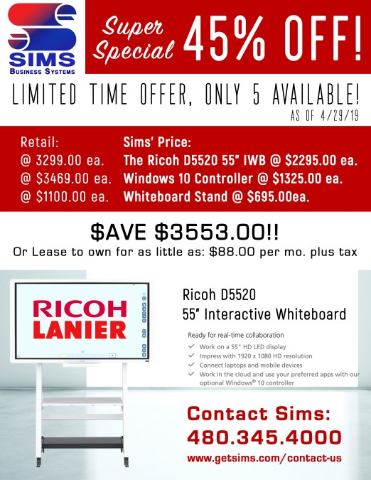 Ricoh Interactive Whiteboards on Sale!