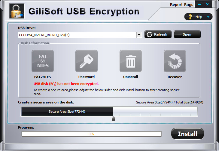 GiliSoft USB Stick Encryption Crack Serial Key
