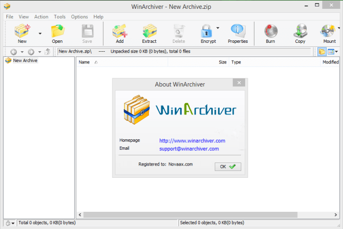 WinArchiver Crack Serial Key